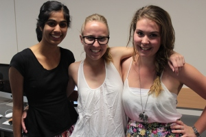 From L to R Mala, Caitlin and Jordana's blog is on health issues for Gen Y