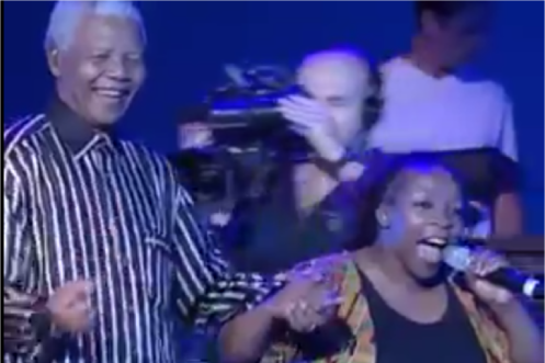 Click on this image to go to the Youtube clip that features Johny Clegg with Nelson Mandela