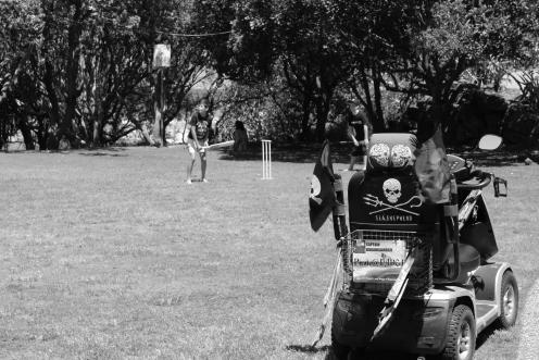 Cricket at Cabarita, New Years Afternoon