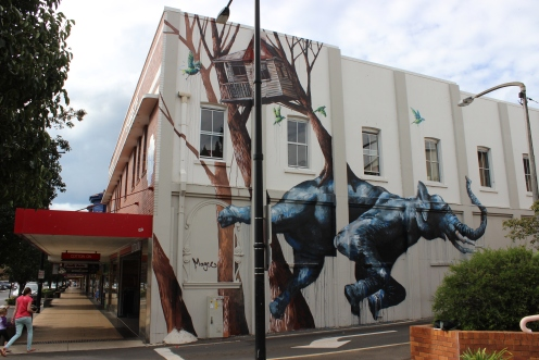 Toowoomba (which is the sound that elephants make when they fart under water) grafitti